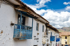 House in Cusco. House with balkony in Cusco, Peru stock image