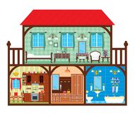 House in a cut Royalty Free Stock Images