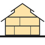 House in cut. Flat section house. Vector illustration Royalty Free Stock Photos