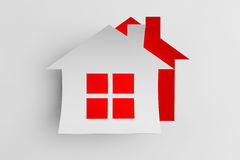 House cut from paper as sticker Stock Image