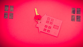 House cutout with keys. Stock Images