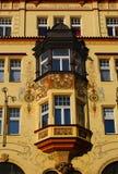 Prague, Architecture, Czech republic. The House of the Czech Eagle - windows. Prague. Czech republic royalty free stock photos