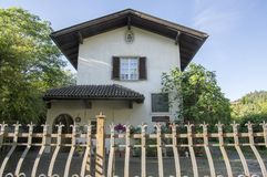 House of the Czech famous poet and journalist Karel Havlicek Borovsky during his exile in Italy, Brixen, Bozen, Italy, Europe. House of the Czech famous poet and stock images
