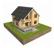 House 3D Royalty Free Stock Image