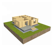 House 3D Royalty Free Stock Photo