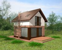 House 3D Render Stock Photography