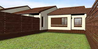 House 3D Render Royalty Free Stock Images