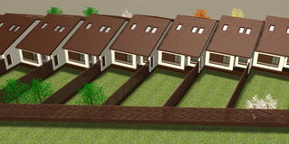 House 3D Render Stock Image