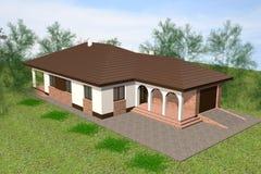 House 3D Render Royalty Free Stock Photos