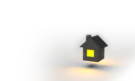 House 3d Render Royalty Free Stock Photography