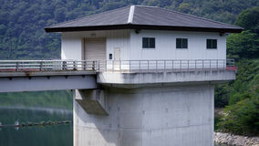 The house beside the dam Royalty Free Stock Photo