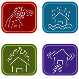 House Damage Icons Stock Images