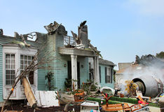 House damaged by disaster Stock Images