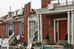 House damaged by disaster Stock Photos