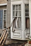House damaged by disaster Royalty Free Stock Photography