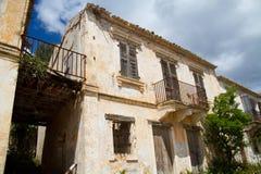 House, damaged by earthquake Stock Image