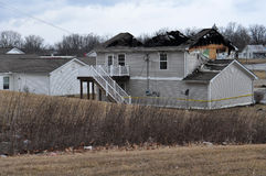 House Damaged By Fire Stock Images