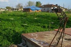 House Damanged in Hurricane Katrina Stock Image