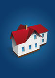House on dark-blue background Royalty Free Stock Images