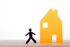 House with a Dark Paper Person royalty free stock photo