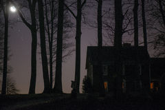 House at dawn Royalty Free Stock Photo