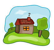 House Day. Simple Illustration for country house Stock Illustration