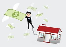 House Debt Concept Royalty Free Stock Photos