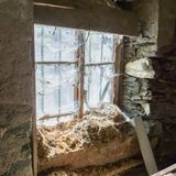 House in decay - Rotten interior Stock Photos