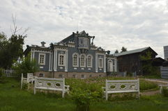 House of decembrist in Irkutsk. Here lived a family of decemrist prince Trubetzkoy Stock Photos