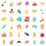 House decor icons set, cartoon style. House decor icons set. Cartoon style of 36 house decor vector icons for web isolated on white background Royalty Free Stock Photo