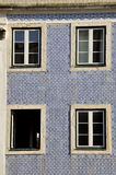 House decorated with azulejos, Portugal Stock Photography