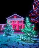 House decorated for Christmas Royalty Free Stock Photos