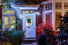 House decorated for Christmas in London Royalty Free Stock Photos