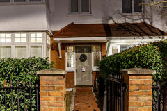 House decorated for Christmas in London Royalty Free Stock Photography