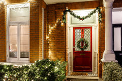 House decorated for Christmas in London Royalty Free Stock Photo