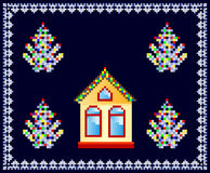 House decorated for Christmas Stock Photos