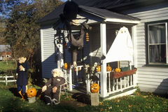 House decorated for Halloween in Newfane, VT Royalty Free Stock Photos
