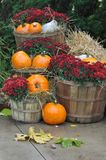 House decorated with pumpkins Royalty Free Stock Photo