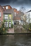 House decoration beside Groenerei canal Stock Photos