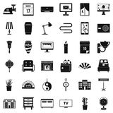 House decoration icons set, simple style. House decoration icons set. Simple style of 36 house decoration vector icons for web isolated on white background Royalty Free Stock Photo