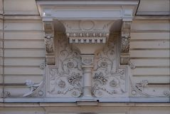 House decoration in the old part of the city of Ljubljana Stock Photo