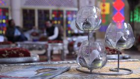 House decorative piece in glass stock footage
