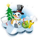 House del sig. Snowman Fotografie Stock