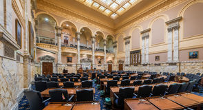House of Delegates Chamber in Maryland. House of Delegates Chamber in the Maryland State House at 100 State Circle in Annapolis, Maryland on July 17, 2015 Royalty Free Stock Photography