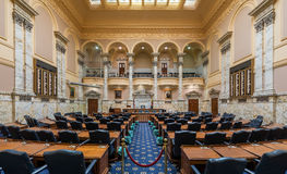 House of Delegates Chamber. In the Maryland State House at 100 State Circle in Annapolis, Maryland on July 17, 2015 Stock Photography