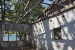 House demolished. In Zambezi river Royalty Free Stock Photo