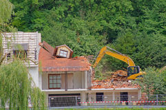 House demolition. Demolition of a house in need of renovation Stock Photos
