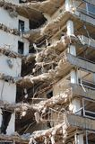 House demolition in a city stock photos