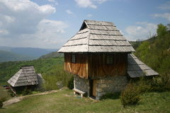house den gammala serben Arkivfoton