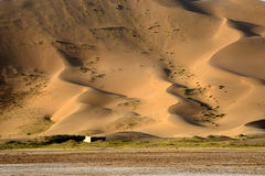 A house in  desert Stock Images